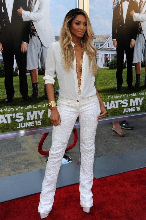 White Outfit for Spring, cool white low-cut pantsuits