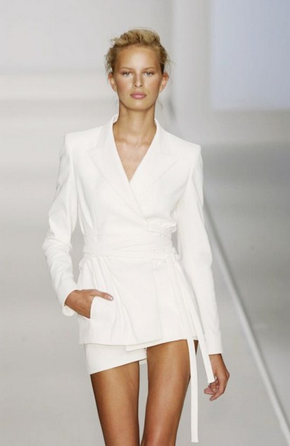 White Outfit , Catwalk Pantsuits of White Obession