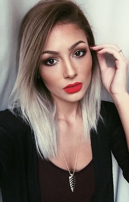 Trendy Long Bob Hairstyle for Ombre Hair