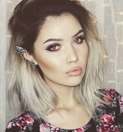 Brown to Grey Ombre Hair