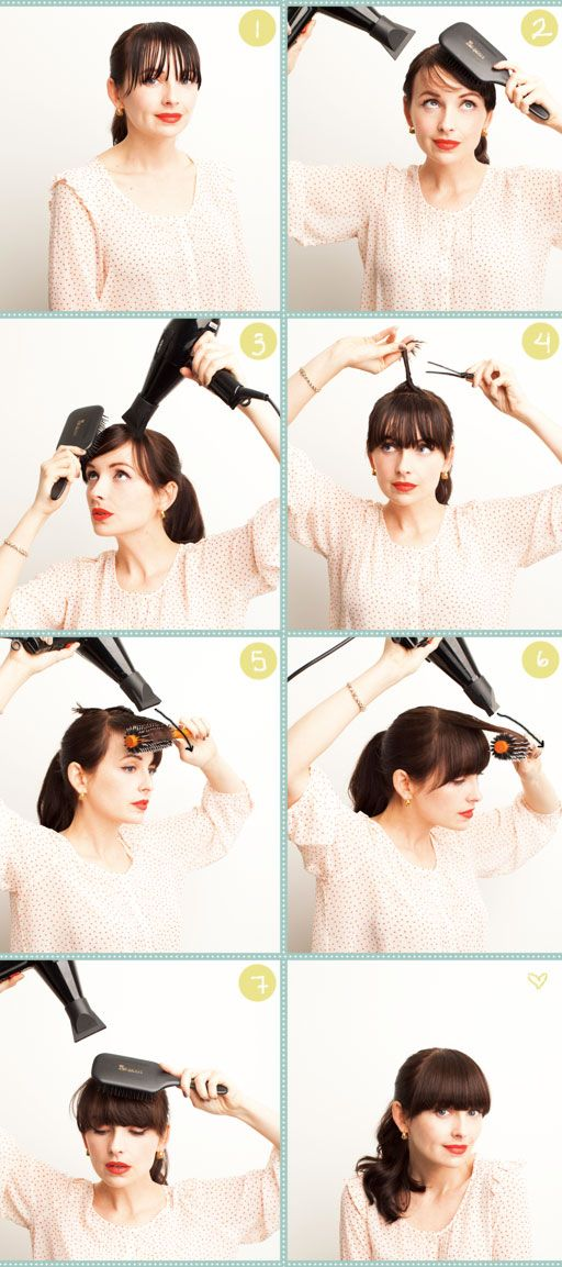 how-to-style-heavy-bangs via