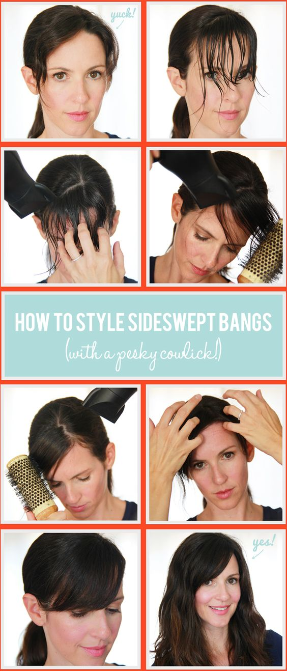 how-to-style-sideswept-bangs via