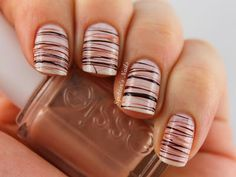 Patterned Chocolate Nail Design