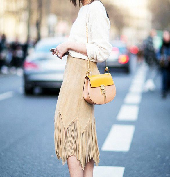 20 Chic Ways to Wear Suede Skirts