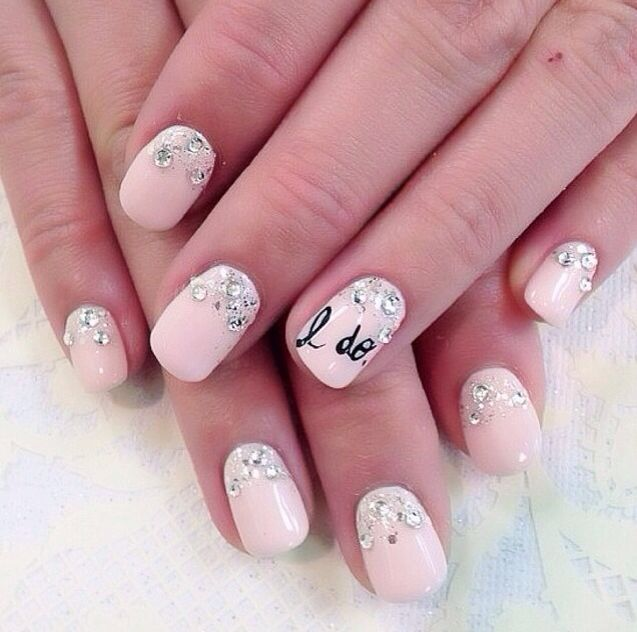 Lovely Pink Wedding Nails