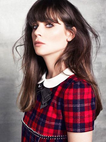 Red Plaid Dress with White Collar