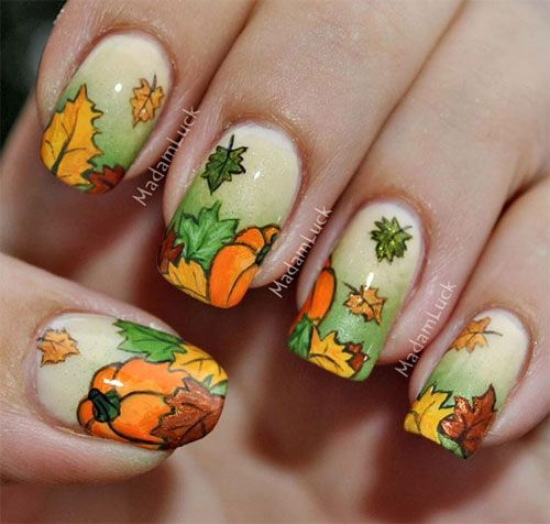 Fall-inspired Nails