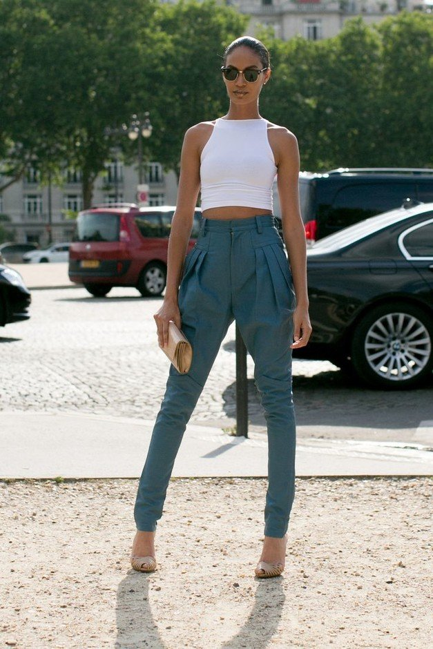 Edgy High Waisted Pants Outfit Idea