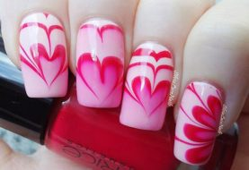 18 Unique Water Marble Nail Designs